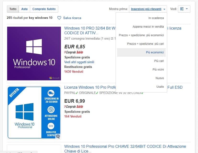 Acquistare licenza windows 10 quasi gratis