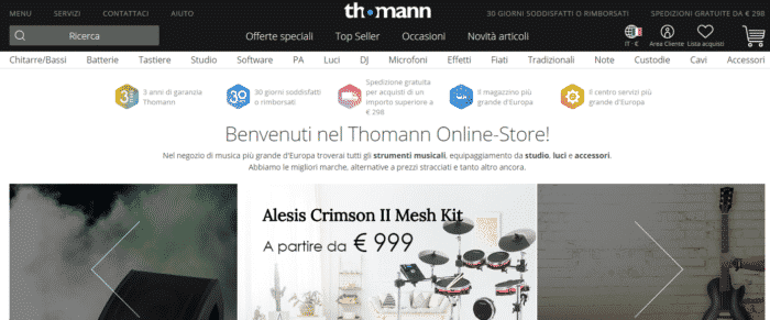 Strumenti Musicali In Italia thomann
