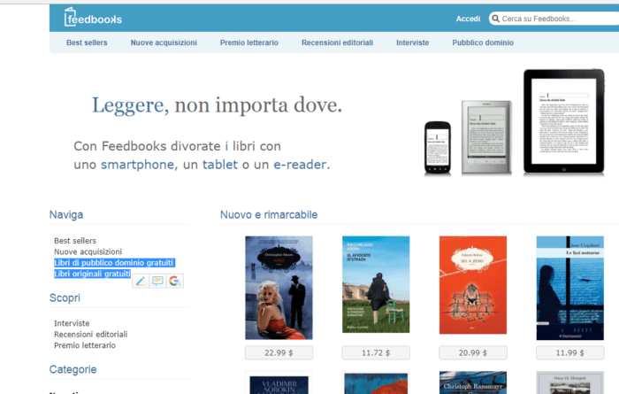 scaricare libri gratis in PDF