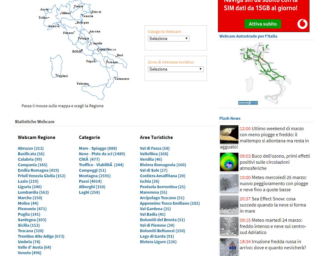 immagini satellitari in tempo reale con ilmeteo