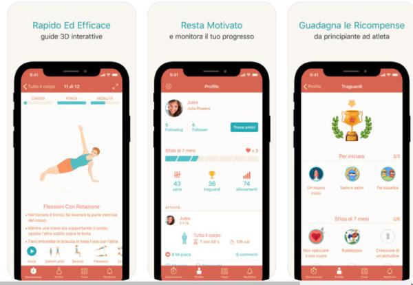 app per allenamento