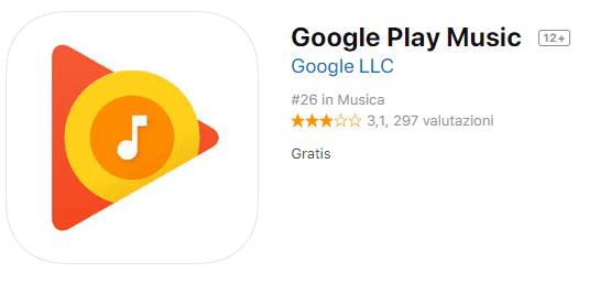 app per ascoltare musica offline con google play music