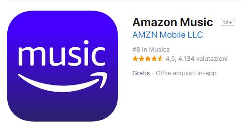 app per ascoltare musica offline con amazon music