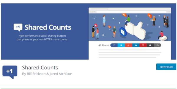 GDPR WordPress con shared counts