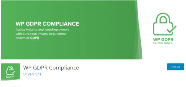 GDPR WordPress con wp compliance