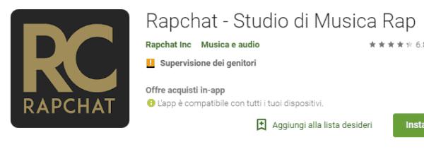 app per fare Rap con rapchat
