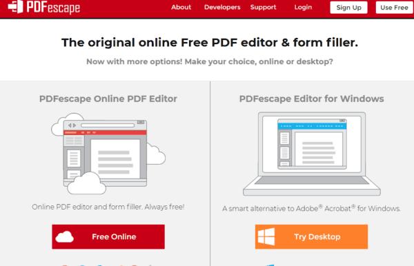 pdfescape - modifica pdf online
