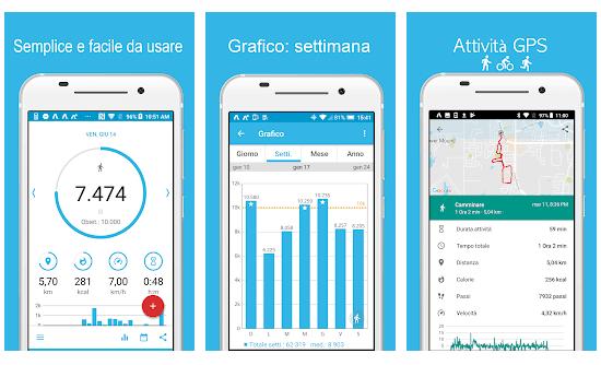 accupedo App Pedometro Contapassi Gratis