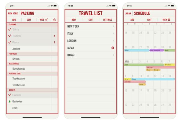travel list - App per Fare la Valigia
