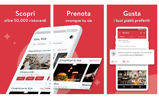 App per Trovare Ristoranti opentable