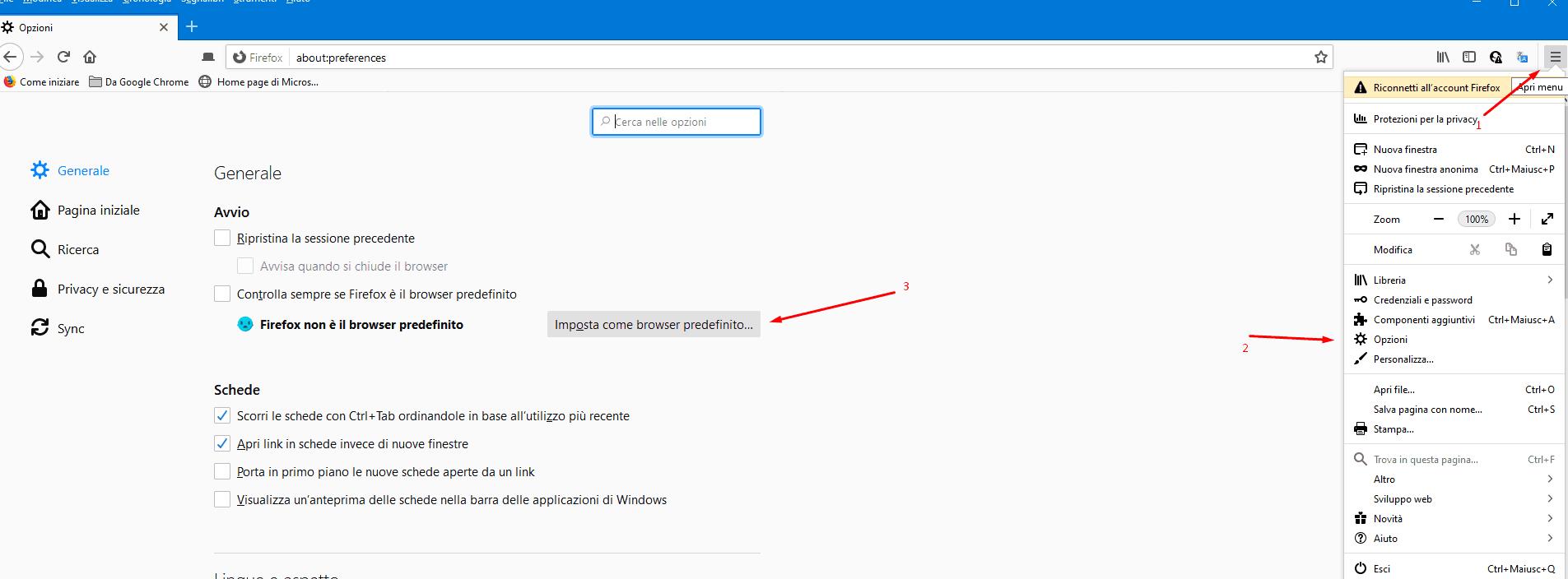 Come Impostare Un Browser Predefinito firefox