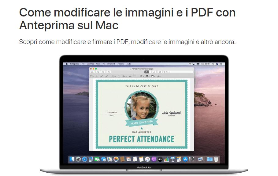 anteprima mac