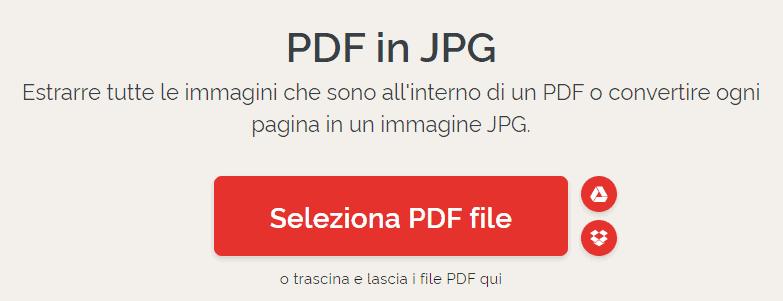 Trasforma Pdf In Jpg Online con ilovepdf