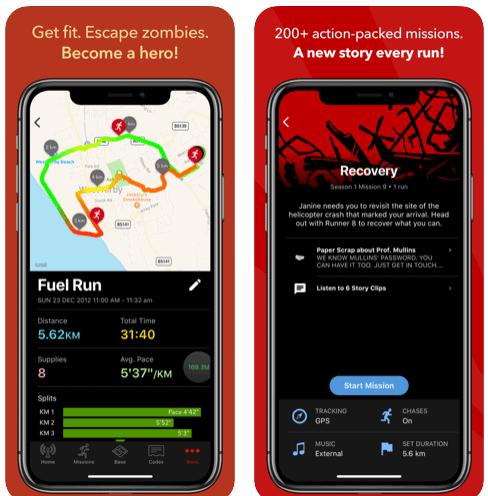 App Per Correre con zombie run