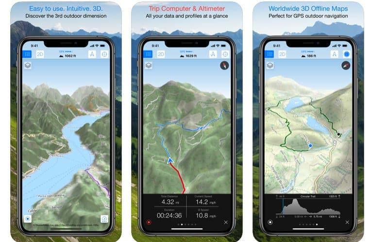 maps 3d pro per montagna