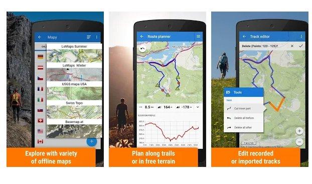 locus map  trekking