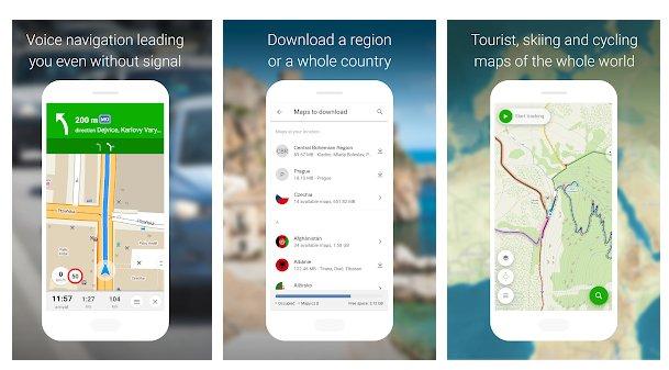 Applicazioni di Trekking con mapy.cz