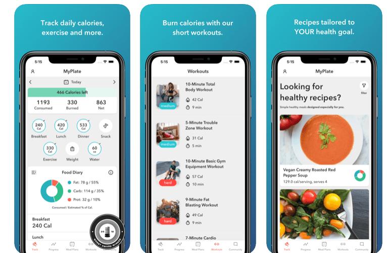 My Plate Calorie Tracker app