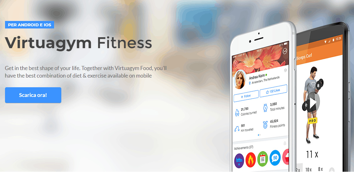 App Calcola Calorie con virtualgim