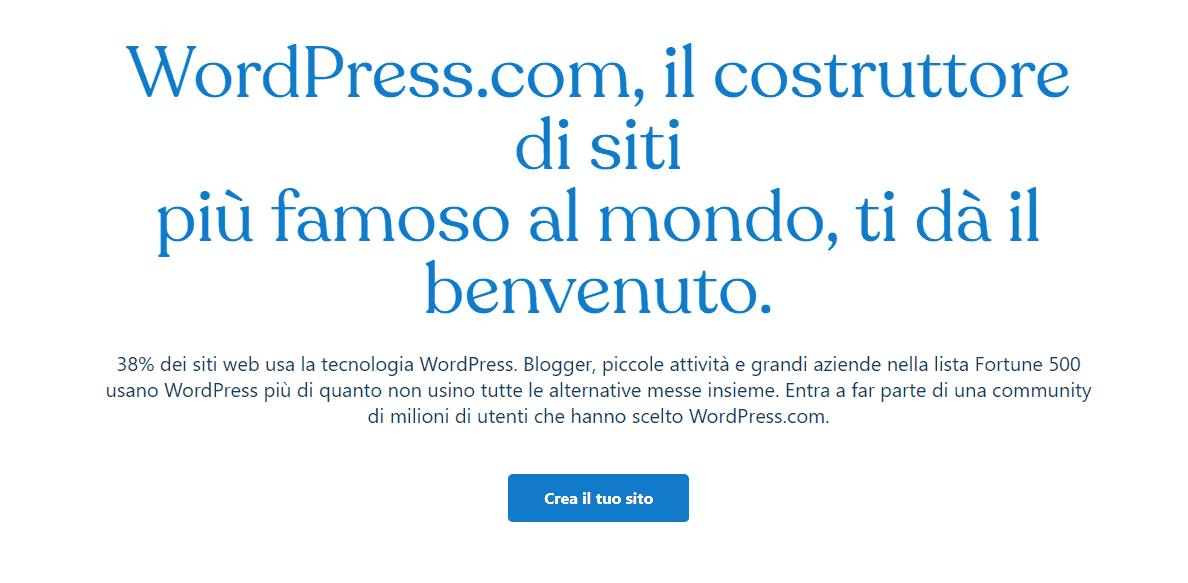 piattaforme di blog gratuite con wordpress