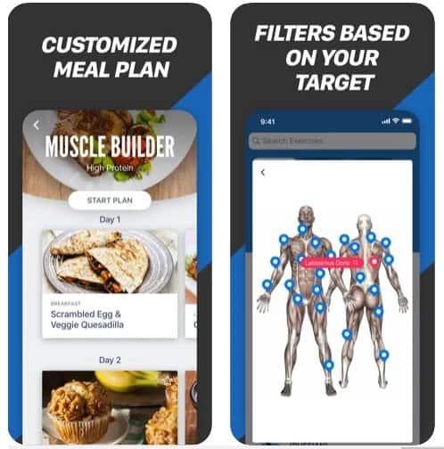 amici fitness App di Bodybuilding per Android e iOS