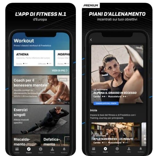 freeletics App di Bodybuilding per Android e iOS
