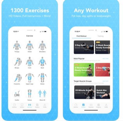 jefit app per body building