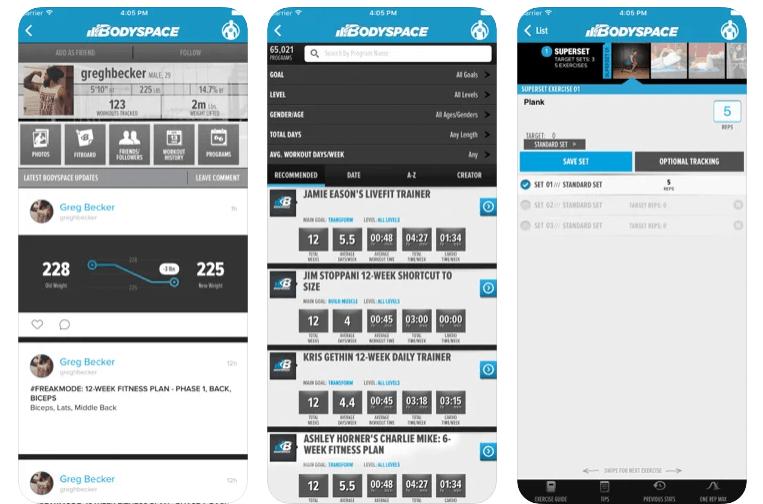 bodyspace App di Bodybuilding per Android e iOS