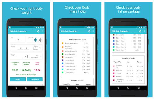 bmi fat calcualtor app android