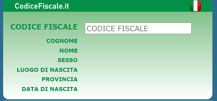 Calcolo Codice Fiscale .it