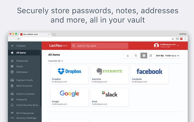 lastpass privacy con Chrome