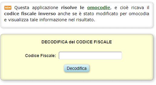Codice Fiscale avvocato