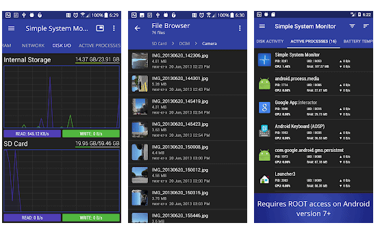 app Simple System Monitor per android