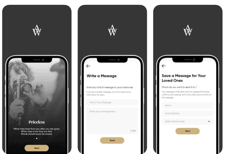 My Afterwords - App Per Inviare Messaggi Dopo la Morte
