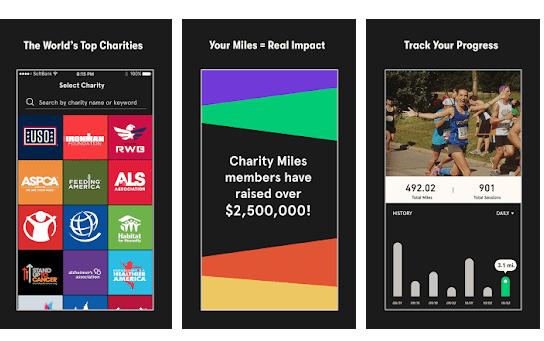 Charity Miles app che premia per camminare