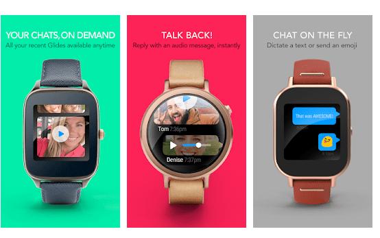 Glide La Migliore App Per Videochiamate con smartwach