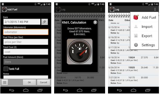 fillup App Gratuite per Calcolare La Spesa Della Benzina