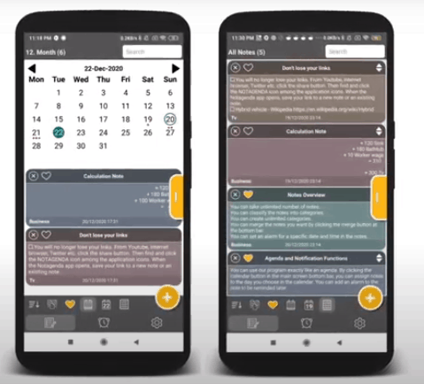 notagenda - App Android per Prendere Appunti