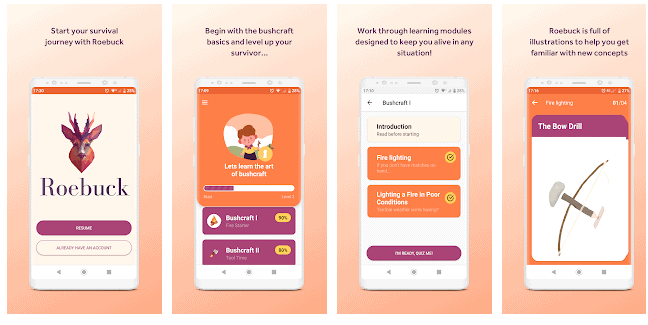 App Roebuck - App Android di Sopravvivenza