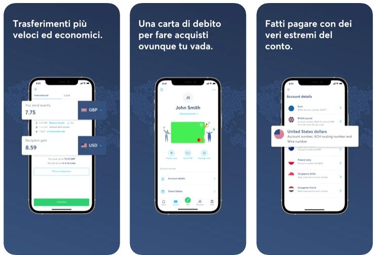 Wise - App per Trasferire Soldi All'Estero