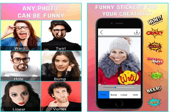 face distortion App Divertenti Per Modificare il Viso