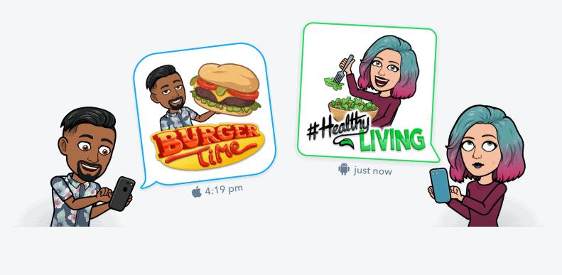 bitmoji App Per Creare Adesivi Personalizzati su Snapchat e Instagram