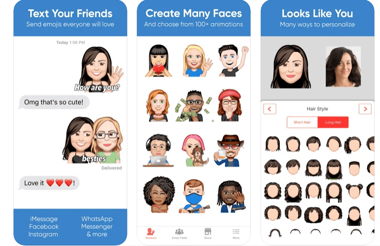 emoji me face App Per Creare Adesivi Personalizzati su Snapchat e Instagram
