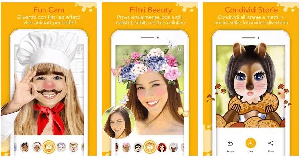 youcam fun App Divertenti Per Modificare il Viso