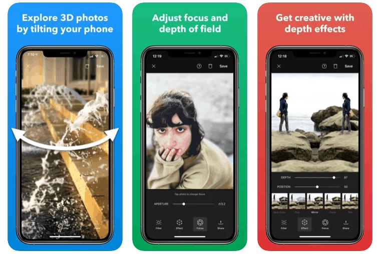 App per Scattare Foto in 3D con poppic