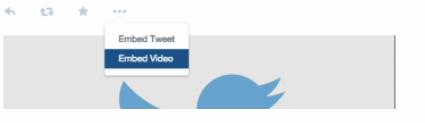 Incorporare Video di Twitter