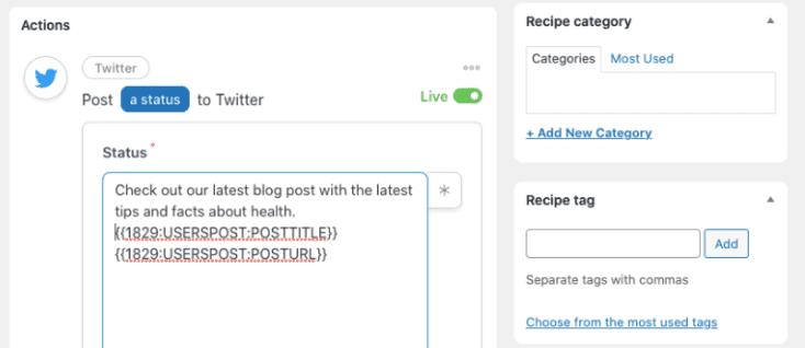 Condividere Auto  Post WordPress Facebook