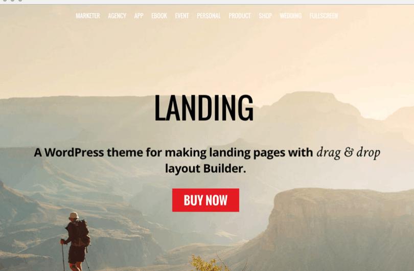 landing tema ottimizzato per sito