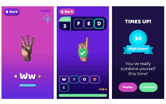 hands on ads app per lingua dei segni