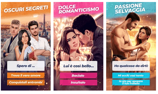 love story game android interattivo